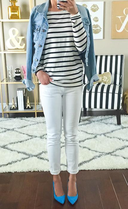 white-skinny-jeans-black-tee-stripe-blue-light-jacket-jean-blue-shoe-pumps-howtowear-fashion-style-outfit-spring-summer-lunch.jpg