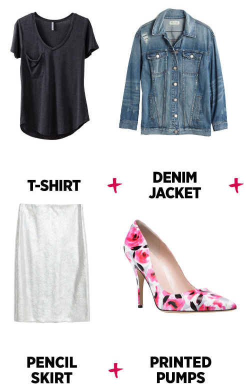 white-pencil-skirt-black-tee-blue-light-jacket-jean-howtowear-style-fashion-spring-summer-print-pink-shoe-pumps-work.jpg