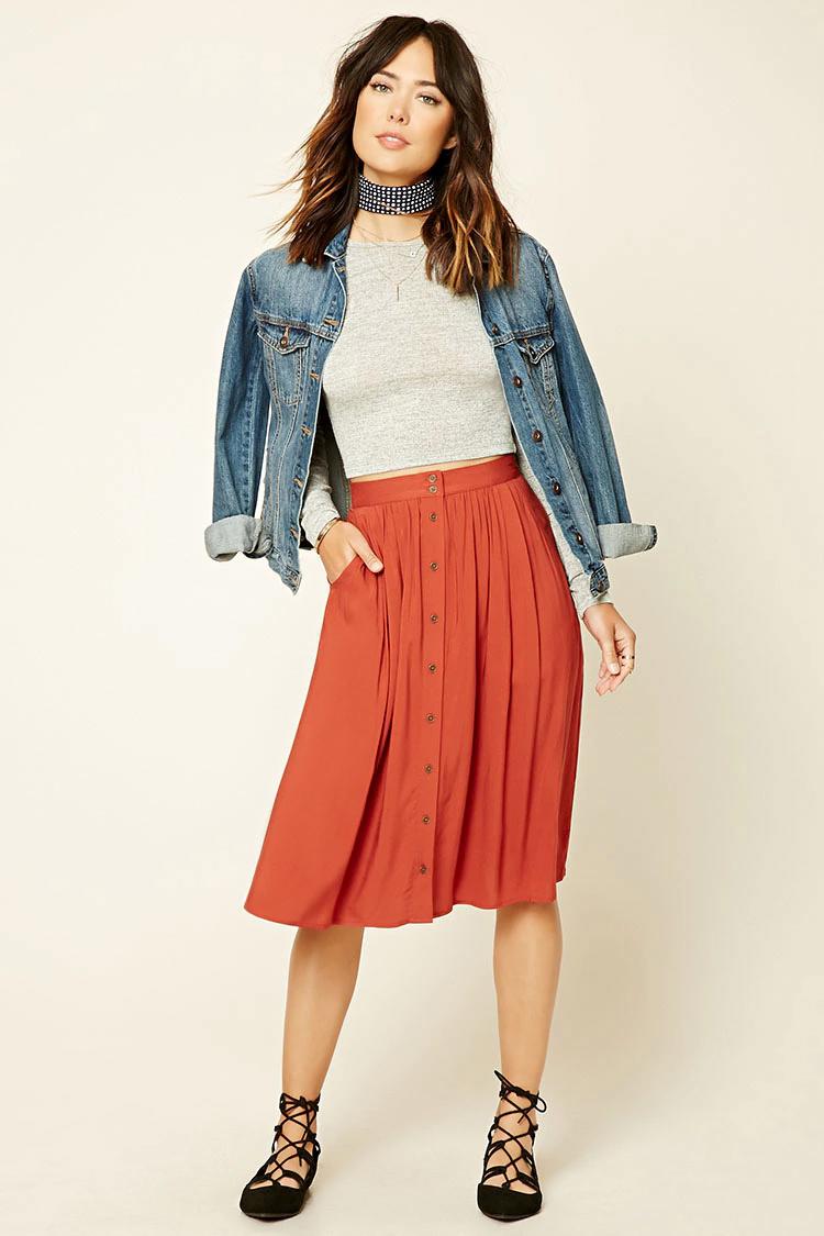 orange-midi-skirt-grayl-tee-blue-light-jacket-jean-black-shoe-flats-wear-outfit-fall-winter-denim-choker-hairr-lunch.jpg