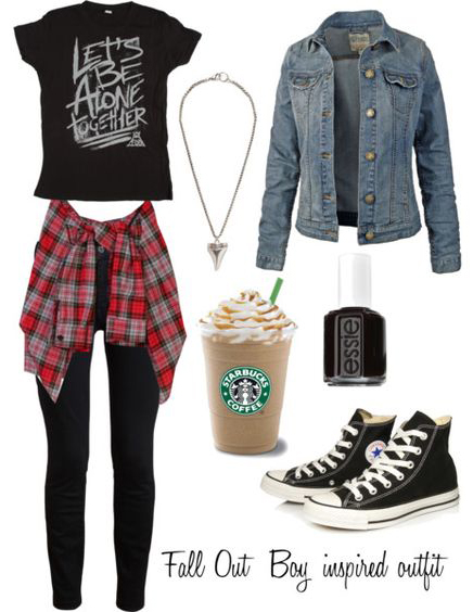 black-skinny-jeans-black-tee-red-plaid-shirt-blue-light-jacket-jean-black-shoe-sneakers-nail-necklace-howtowear-fashion-style-outfit-fall-winter-weekend.jpg