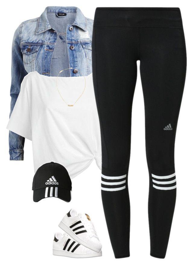 black-leggings-white-tee-blue-light-jacket-jean-hat-cap-necklace-adidas-spring-summer-weekend.jpg