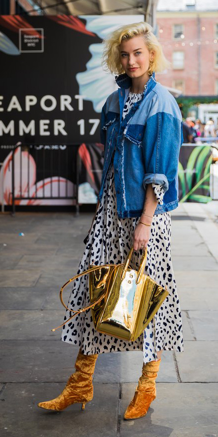 white-dress-aline-print-dot-yellow-bag-gold-blue-med-jacket-jean-yellow-shoe-booties-velvet-bob-howtowear-fall-winter-blonde-lunch.jpg