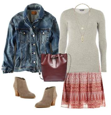 red-mini-skirt-grayl-sweater-necklace-burgundy-bag-tan-shoe-booties-blue-med-jacket-jean-print-fall-winter-weekend.jpg