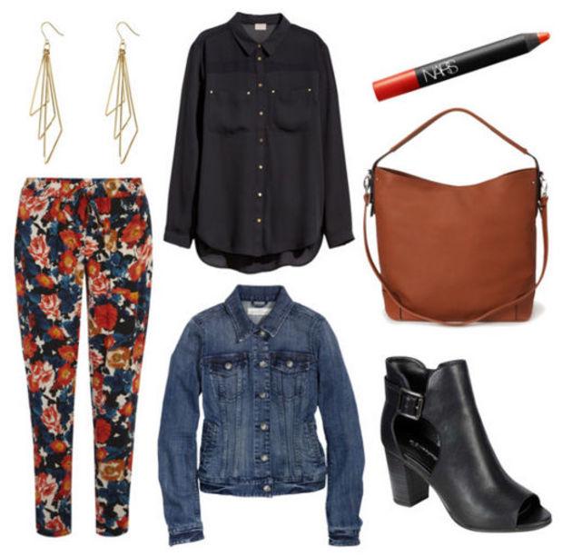 orange-joggers-pants-zprint-black-top-blouse-blue-med-jacket-jean-cognac-bag-howtowear-fashion-style-outfit-fall-winter-earrings-peeptoe-black-shoe-booties-floral-lunch.jpg
