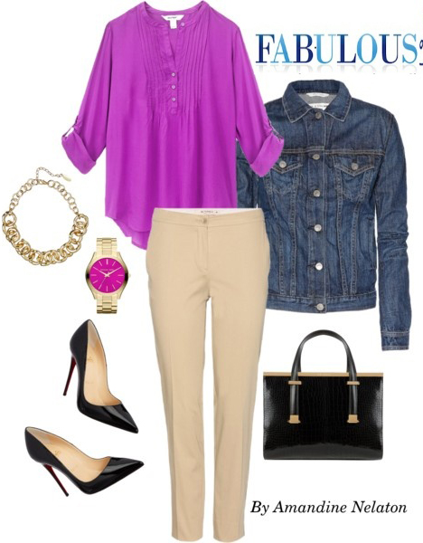 o-tan-slim-pants-purple-royal-top-blouse-blue-med-jacket-jean-black-shoe-pumps-black-bag-chain-necklace-watch-howtowear-fashion-style-outfit-spring-summer-work.jpg