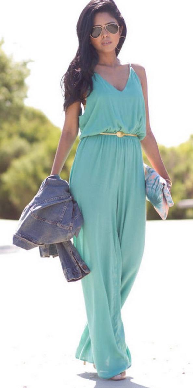green-light-jumpsuit-skinny-belt-pink-bag-clutch-hoops-sun-blue-med-jacket-jean-howtowear-fashion-style-outfit-spring-summer-brun-dinner.jpg