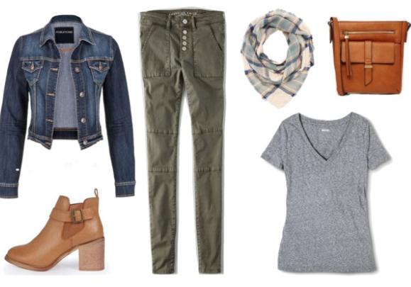 green-olive-skinny-jeans-grayl-tee-blue-med-jacket-jean-cognac-bag-howtowear-fashion-style-outfit-fall-winter-tee-white-scarf-cognac-shoe-booties-weekend.jpg
