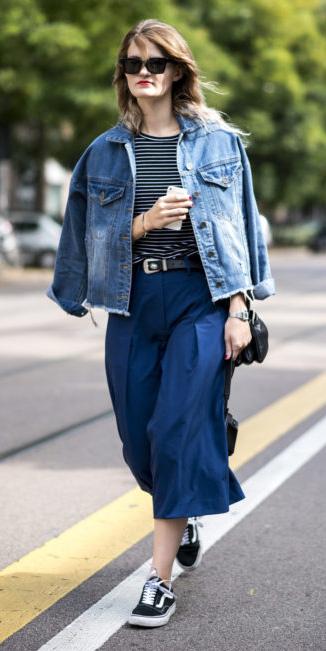 blue-navy-culottes-pants-blue-med-jacket-jean-belt-black-tee-stripe-hairr-black-shoe-sneakers-fall-winter-weekend.jpg