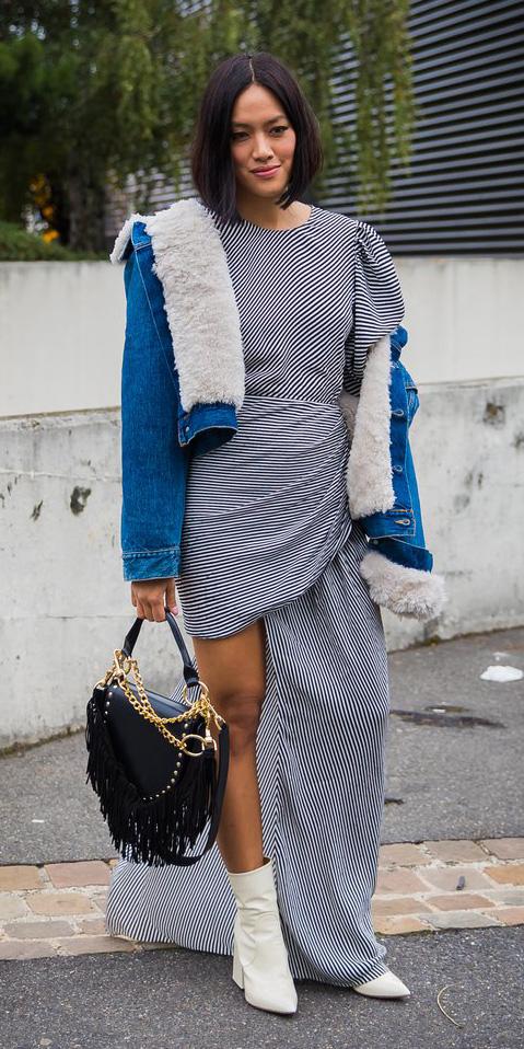 blue-navy-dress-maxi-stripe-white-shoe-booties-blue-med-jacket-jean-fall-winter-brun-lunch.jpg