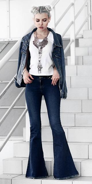 blue-navy-flare-jeans-white-tee-necklace-blue-med-jacket-jean-buns-fall-winter-blonde-dinner.jpg