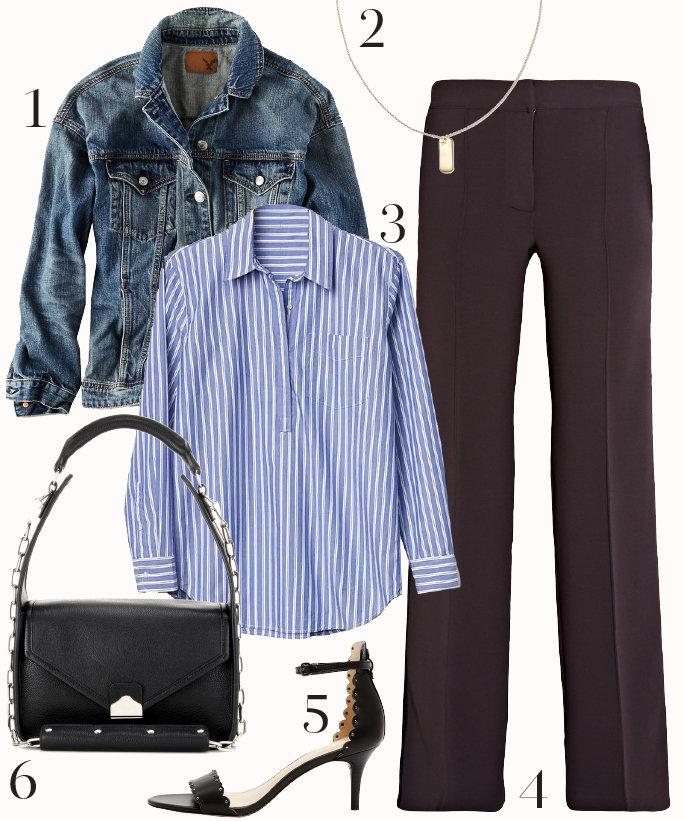 purple-royal-wideleg-pants-blue-light-collared-shirt-blue-med-jacket-jean-black-shoe-sandalh-black-bag-howtowear-fashion-style-outfit-fall-winter-pinstripe-sandals-necklace-work.jpg