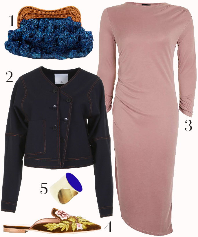 pink-light-dress-tshirt-blue-navy-jacket-jean-blue-bag-clutch-ring-brown-shoe-flats-mules-slides-fall-winter-thanksgiving-outfits-lunch.jpg