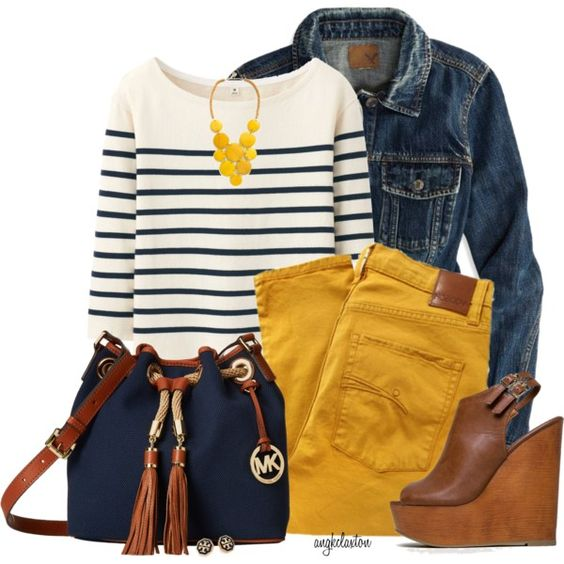yellow-skinny-jeans-blue-navy-tee-stripe-bib-necklace-blue-navy-jacket-jean-blue-bag-cognac-shoe-sandalw-studs-howtowear-fashion-style-outfit-spring-summer-lunch.jpg
