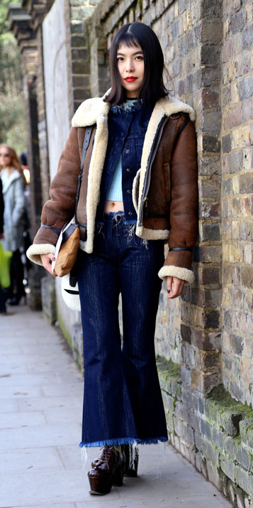 blue-navy-flare-jeans-blue-navy-jacket-jean-layer-brown-shoe-booties-shearling-brown-jacket-moto-fall-winter-brun-lunch.jpg