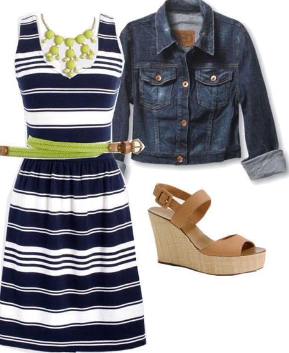 blue-navy-dress-aline-stripe-print-belt-bib-necklace-blue-navy-jacket-jean-tan-shoe-sandalw-howtowear-fashion-style-outfit-spring-summer-lunch.jpg