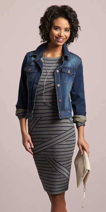 grayl-dress-bodycon-stripe-blue-navy-jacket-jean-necklace-white-bag-clutch-howtowear-fashion-style-outfit-spring-summer-brun-dinner.jpg