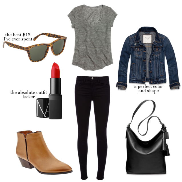 black-skinny-jeans-grayl-tee-blue-navy-jacket-jean-cognac-shoe-booties-black-bag-sun-howtowear-fashion-style-outfit-spring-summer-weekend.jpg
