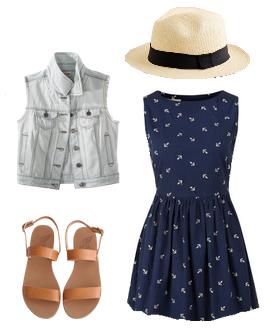 blue-navy-dress-blue-light-vest-jean-mini-cognac-shoe-sandals-hat-panama-howtowear-fashion-style-outfit-spring-summer-weekend.jpg