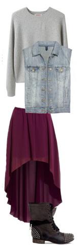 purple-royal-midi-skirt-grayl-sweater-blue-light-vest-jean-black-shoe-booties-highlow-fall-winter-weekend.jpg