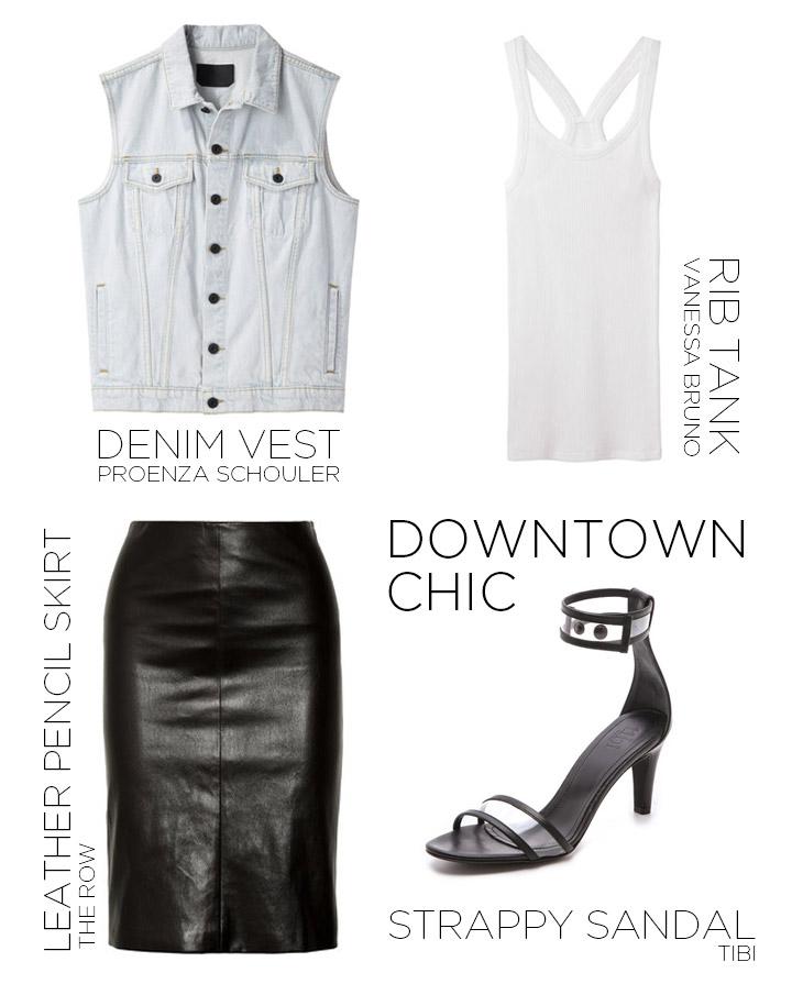 black-pencil-skirt-white-top-tank-black-shoe-sandalh-blue-light-vest-jean-spring-summer-dinner.jpg