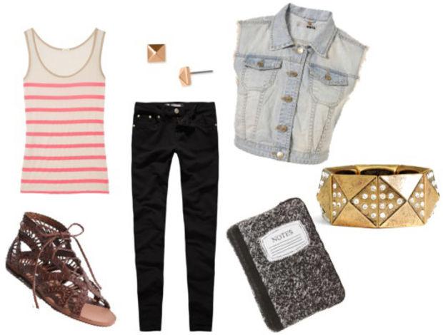 black-skinny-jeans-r-pink-magenta-top-tank-stripe-blue-light-vest-jean-howtowear-fashion-style-outfit-spring-summer-studs-brown-shoe-sandals-bracelet-cuff-weekend.jpg