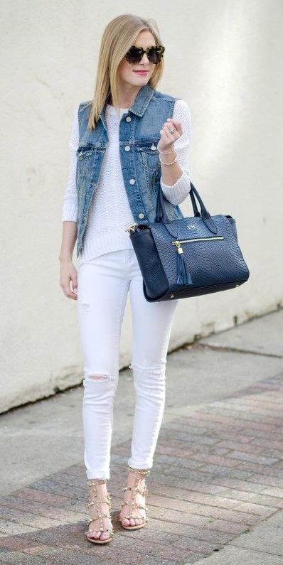 white-skinny-jeans-white-sweater-blue-bag-tote-tan-shoe-sandalh-sun-blonde-blue-med-vest-jean-spring-summer-lunch.jpg