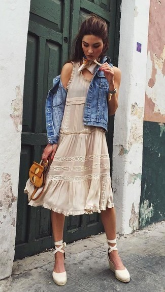 white-dress-peasant-ruffle-silk-white-scarf-neck-hairr-white-shoe-sandalw-cognac-bag-blue-med-vest-jean-spring-summer-lunch.jpg