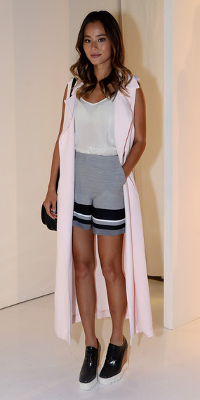 grayl-shorts-white-cami-hairr-pink-light-vest-utility-trench-black-shoe-booties-jamiechung-spring-summer-lunch.jpg