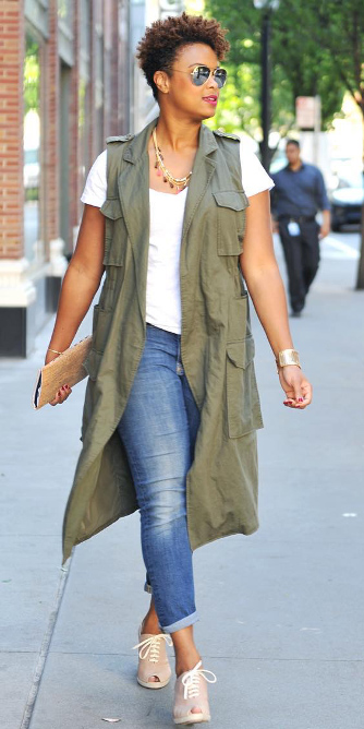 blue-med-skinny-jeans-white-tee-necklace-white-shoe-booties-brun-green-olive-vest-utility-spring-summer-weekend.jpg