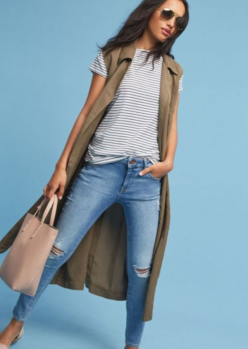 blue-med-skinny-jeans-green-olive-tee-stripe-tan-bag-tan-shoe-flats-sun-brun-green-olive-vest-utility-trench-anthropologie-spring-summer-weekend.jpg
