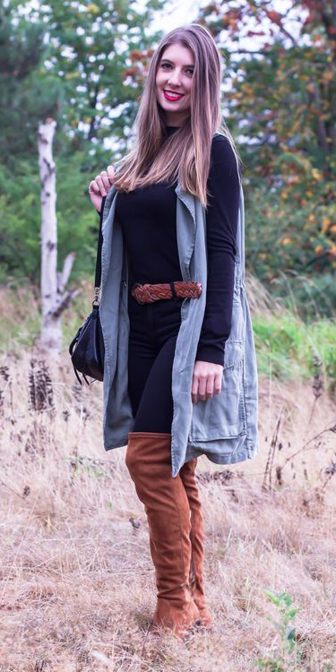black-skinny-jeans-belt-black-tee-cognac-shoe-boots-otk-hairr-green-olive-vest-utility-fall-winter-lunch.jpg