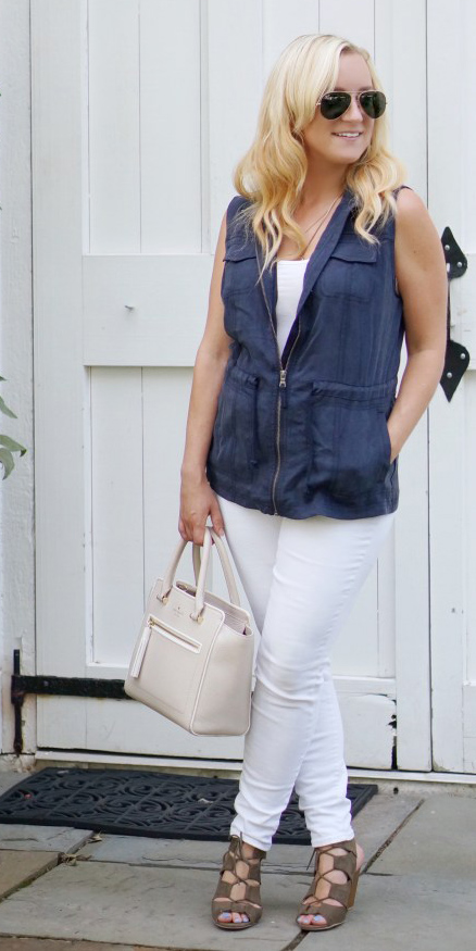 white-skinny-jeans-blue-navy-vest-utility-blonde-sun-white-bag-white-top-tank-sun-cognac-shoe-sandalh-spring-summer-lunch.jpg