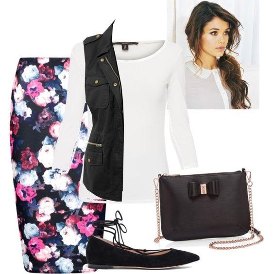 pink-magenta-pencil-skirt-white-tee-black-vest-utility-black-bag-black-shoe-flats-pony-hairr-floral-print-fall-winter-lunch.jpg