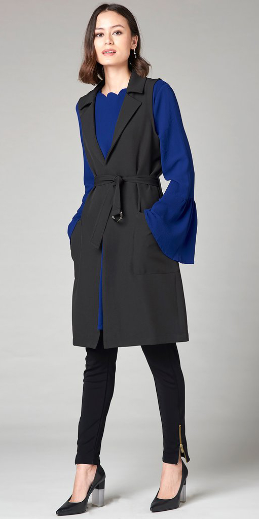 blue-navy-dress-bellsleeve-lob-brun-layer-black-slim-pants-black-shoe-pumps-black-vest-utility-shift-aline-fall-winter-work.jpg