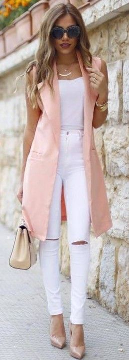 white-skinny-jeans-white-cami-blonde-pink-light-vest-tailor-tan-shoe-pumps-necklace-tan-bag-spring-summer-dinner.jpg