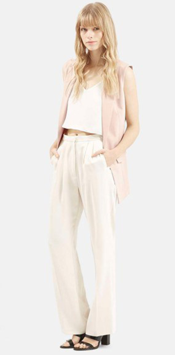 white-wideleg-pants-white-top-tank-howtowear-style-fashion-spring-summer-pink-light-vest-tailor-black-shoe-sandalh-blonde-lunch.jpg