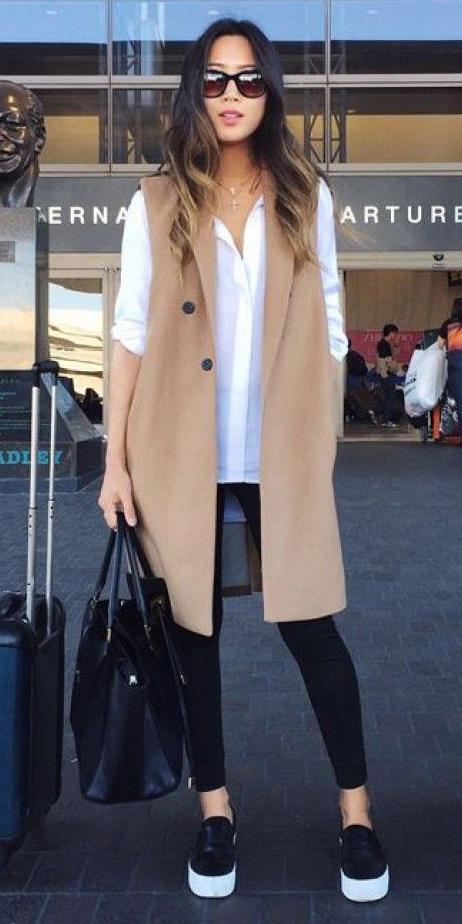 black-leggings-white-top-blouse-tan-vest-tailor-hairr-sun-black-bag-black-shoe-sneakers-fall-winter-weekend.jpg