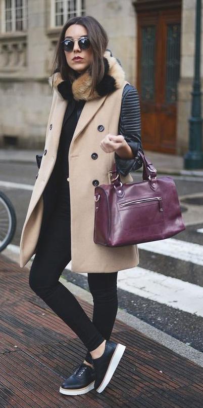 black-skinny-jeans-burgundy-bag-tan-scarf-fur-black-shoe-sneakers-sun-brun-black-jacket-moto-tan-vest-tailor-fall-winter-weekend.jpg