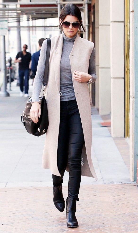 black-leggings-grayl-tee-black-shoe-booties-black-bag-tan-vest-tailor-bun-sun-kendalljenner-turtleneck-wear-outfit-fashion-fall-winter-brun-lunch.jpg