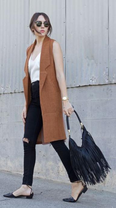 black-skinny-jeans-white-cami-camel-vest-tailor-hairr-sun-black-bag-fringe-black-shoe-flats-watch-spring-summer-lunch.jpg