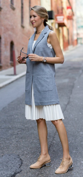 white-aline-skirt-pleat-choker-grayl-vest-tailor-pinstripe-pony-blonde-tan-shoe-brogues-spring-summer-work.jpg