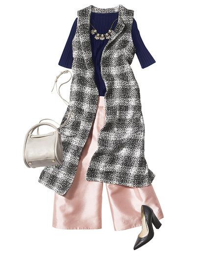 pink-light-culottes-pants-blue-navy-sweater-bib-necklace-grayl-vest-tailor-black-shoe-pumps-white-bag-fall-winter-dinner.jpg