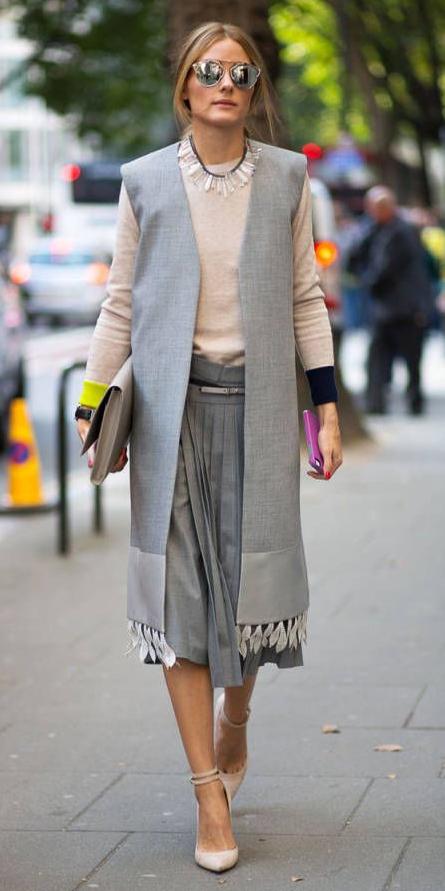 grayl-midi-skirt-white-sweater-bib-necklace-hairr-sun-grayl-vest-tailor-white-shoe-pumps-fall-winter-work.jpg