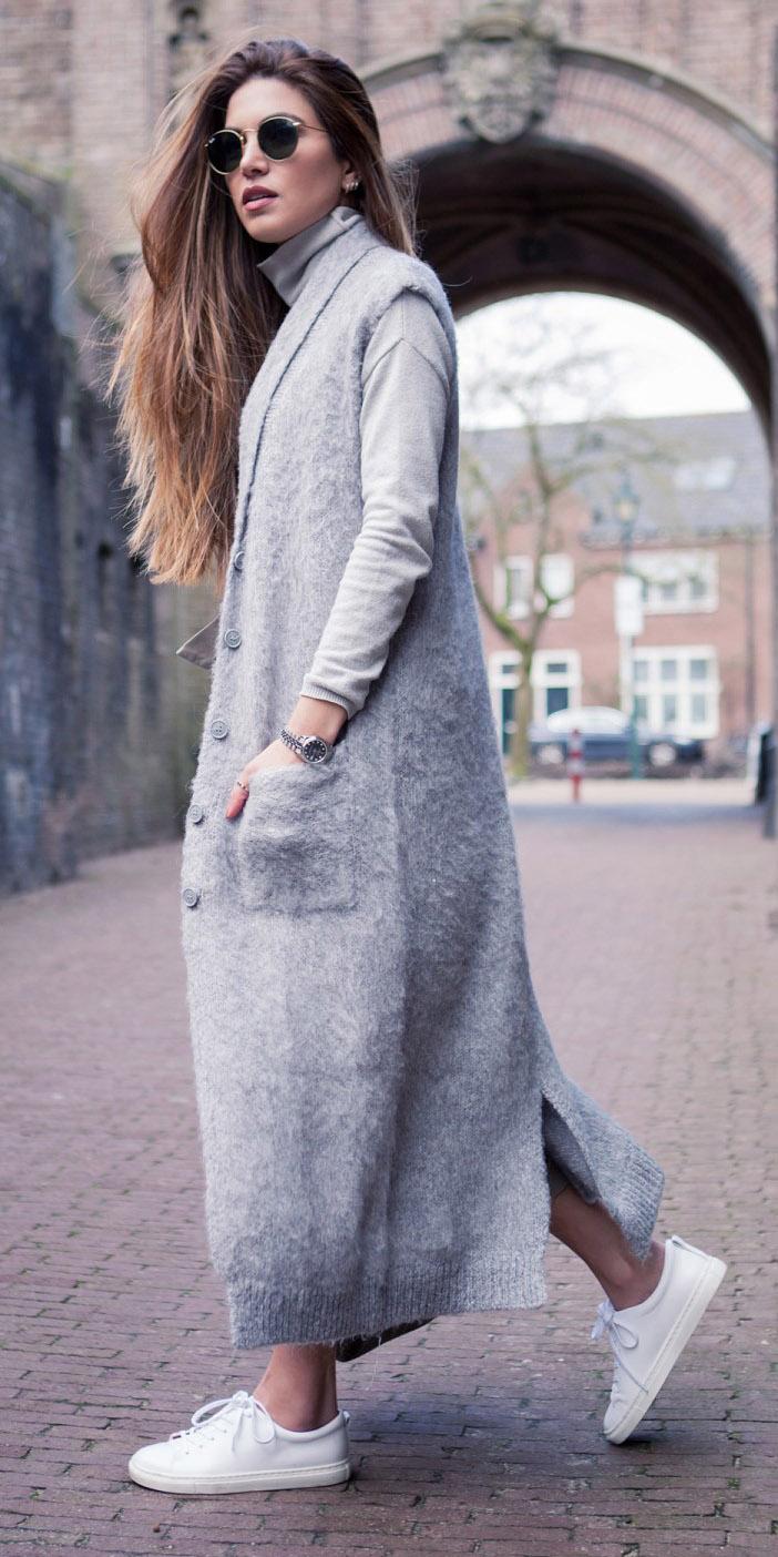 grayl-sweater-turtleneck-white-shoe-sneakers-grayl-vest-tailor-maxi-hairr-sun-fall-winter-weekend.jpg