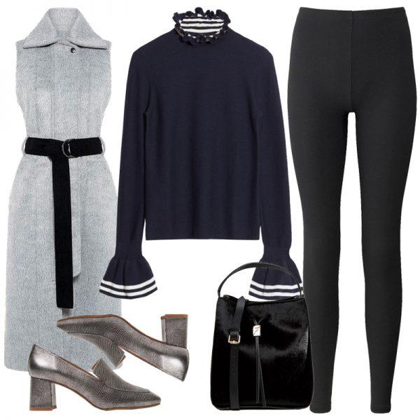 black-leggings-grayl-vest-tailor-turtleneck-blue-navy-sweater-black-bag-gray-shoe-pumps-fall-winter-lunch.jpg