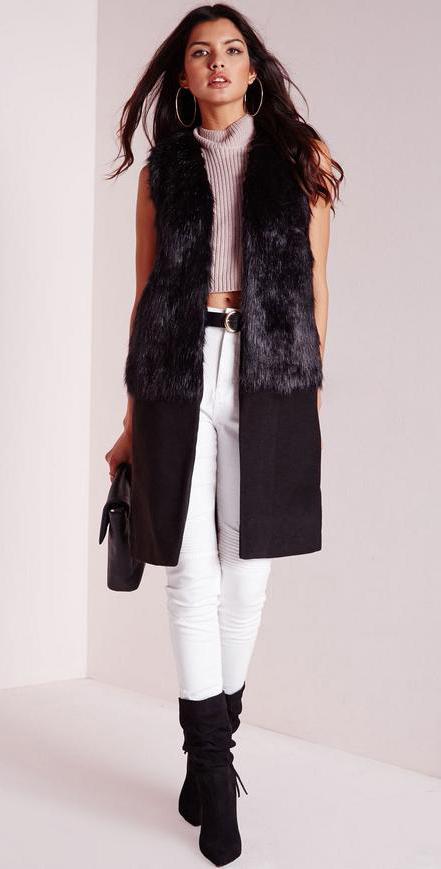 white-skinny-jeans-grayl-sweater-sleeveless-belt-brun-black-shoe-boots-black-vest-tailor-fall-winter-dinner.jpg