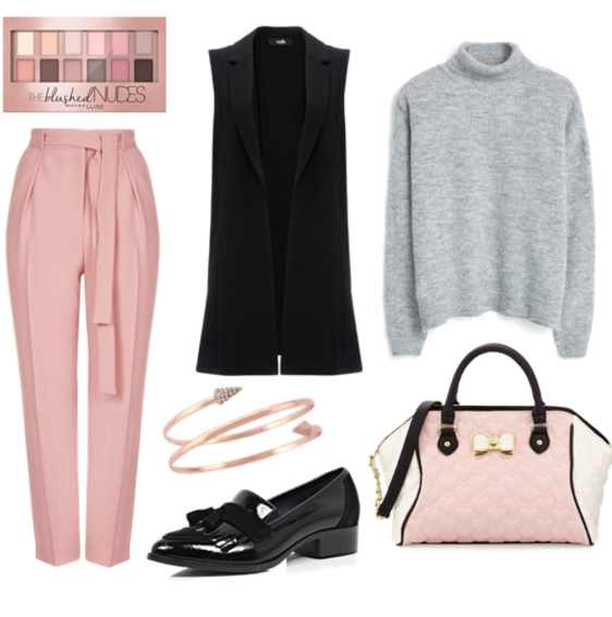 r-pink-light-joggers-pants-grayl-sweater-black-vest-tailor-pink-bag-howtowear-fashion-style-outfit-fall-winter-turtleneck-basic-black-shoe-loafers-bracelet-office-work.jpg