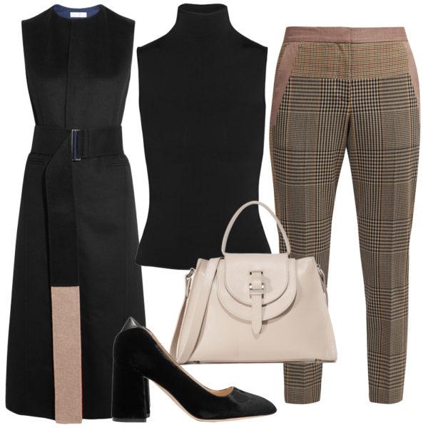 o-brown-slim-pants-herringbone-black-top-turtleneck-black-vest-tailor-black-shoe-pumps-white-bag-howtowear-fashion-style-outfit-spring-summer-work.jpg