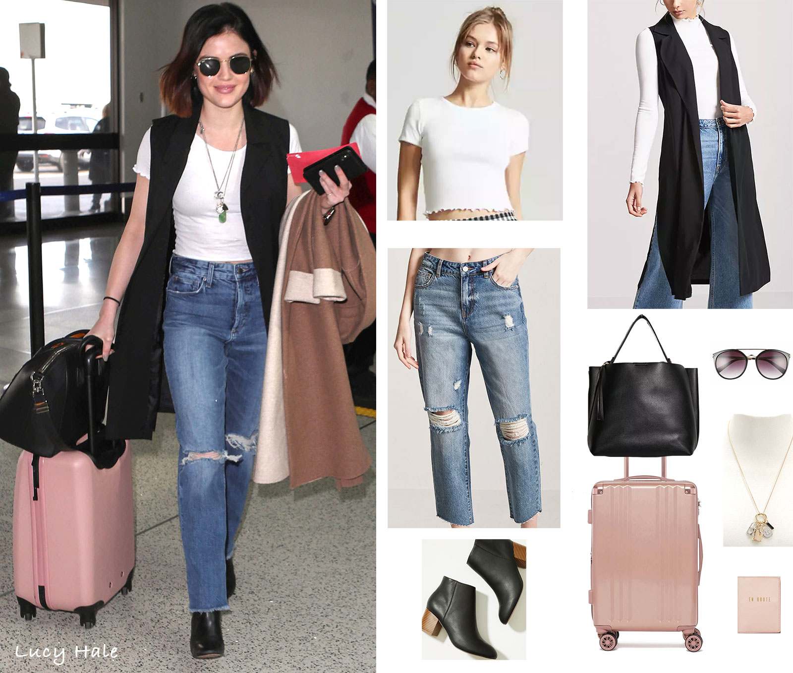 blue-med-boyfriend-jeans-white-tee-necklace-pend-lob-brun-sun-black-vest-tailor-black-shoe-booties-lucyhale-spring-summer-lunch.jpg