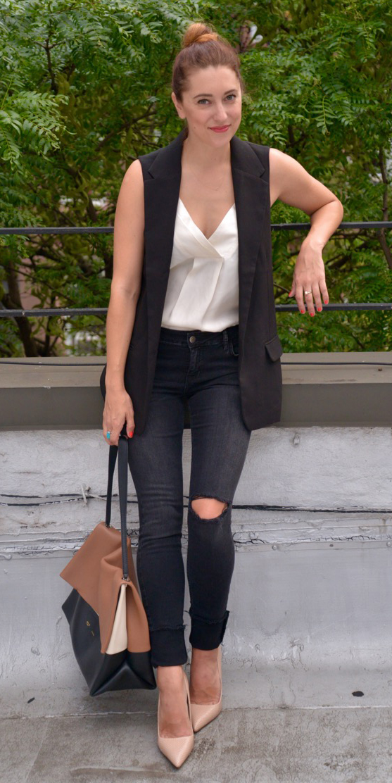 black-skinny-jeans-white-cami-bun-hairr-tan-shoe-pumps-cognac-bag-black-vest-tailor-spring-summer-lunch.jpg